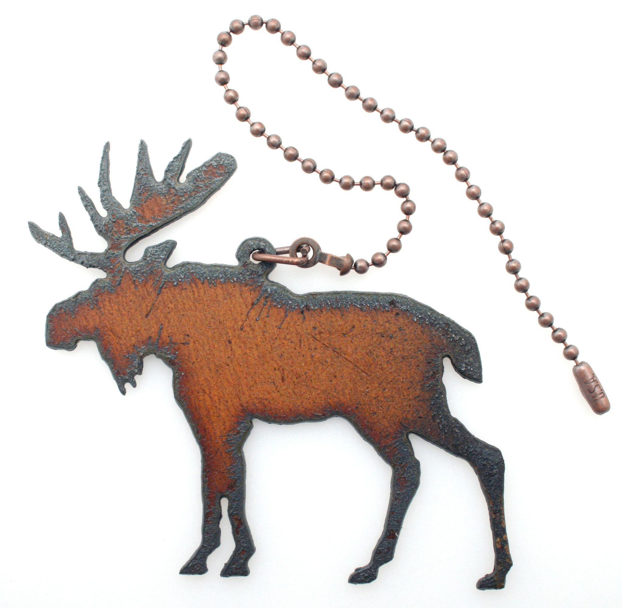 Lodge Decor Rustic Home Decor Metal Moose Ceiling Fan Pull Chain