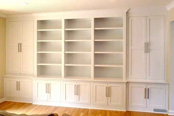 Custom Made Shaker Contemporary Built In Wall Storage System