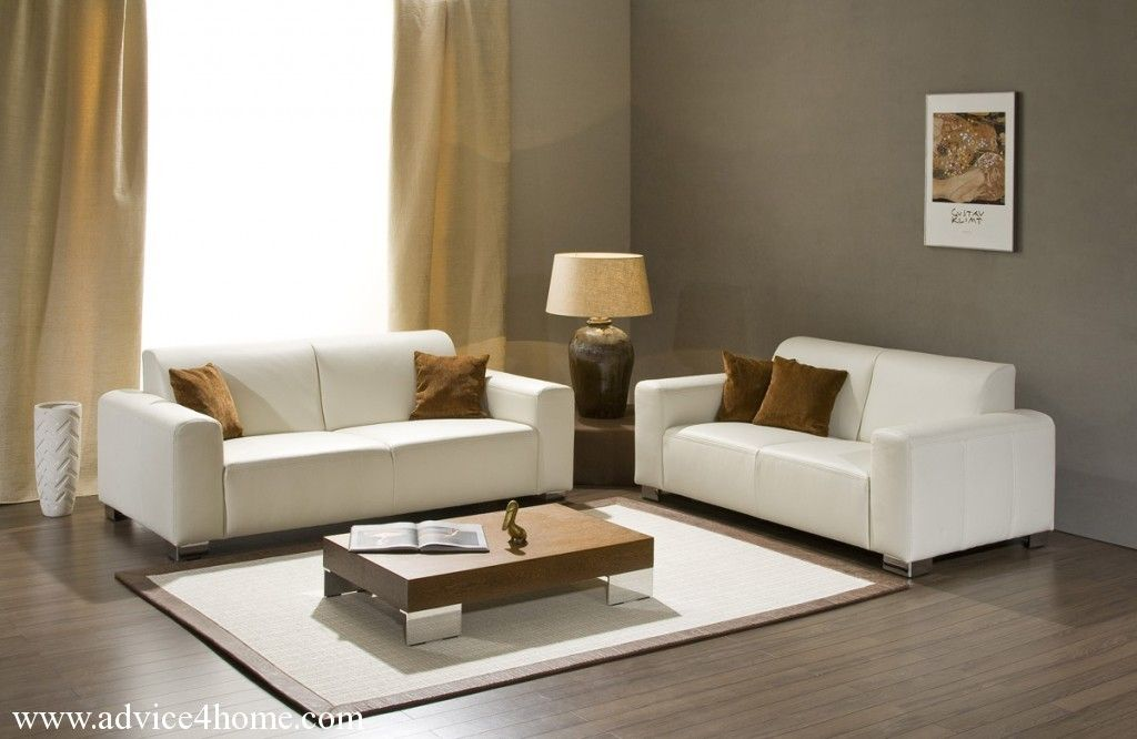 Grey Walls With White Sofa | Gray Wall And Classic White Sofa Design In  Living Room