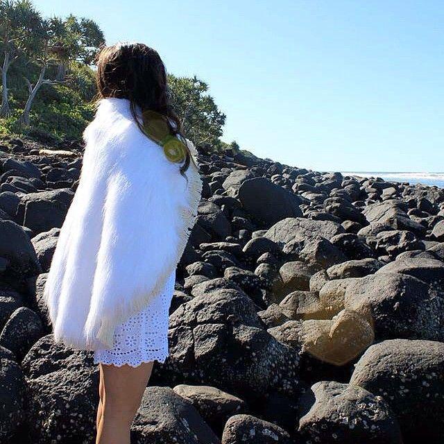 Sneak peak at a pic from yesterday's photo shoot.... Can't wait to show you our new look website coming soon! ⚪️ #tarasea #bohorug #furrug #roundrug #islandlife #island #beach #summer #boho #paradise #beachrocks #escape #sun #ocean