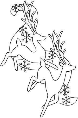 Reno Paint Mart >> Venados | Royal Icing | Dibujo de navidad, Bordado navidad ...
