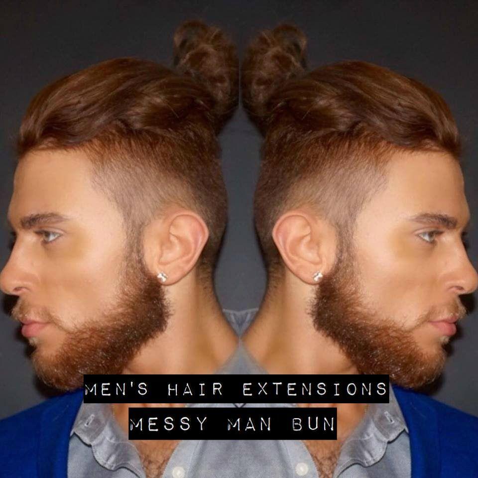 Mens Hair Extensions Messy Man Bun L Mens Hairstyles 2016