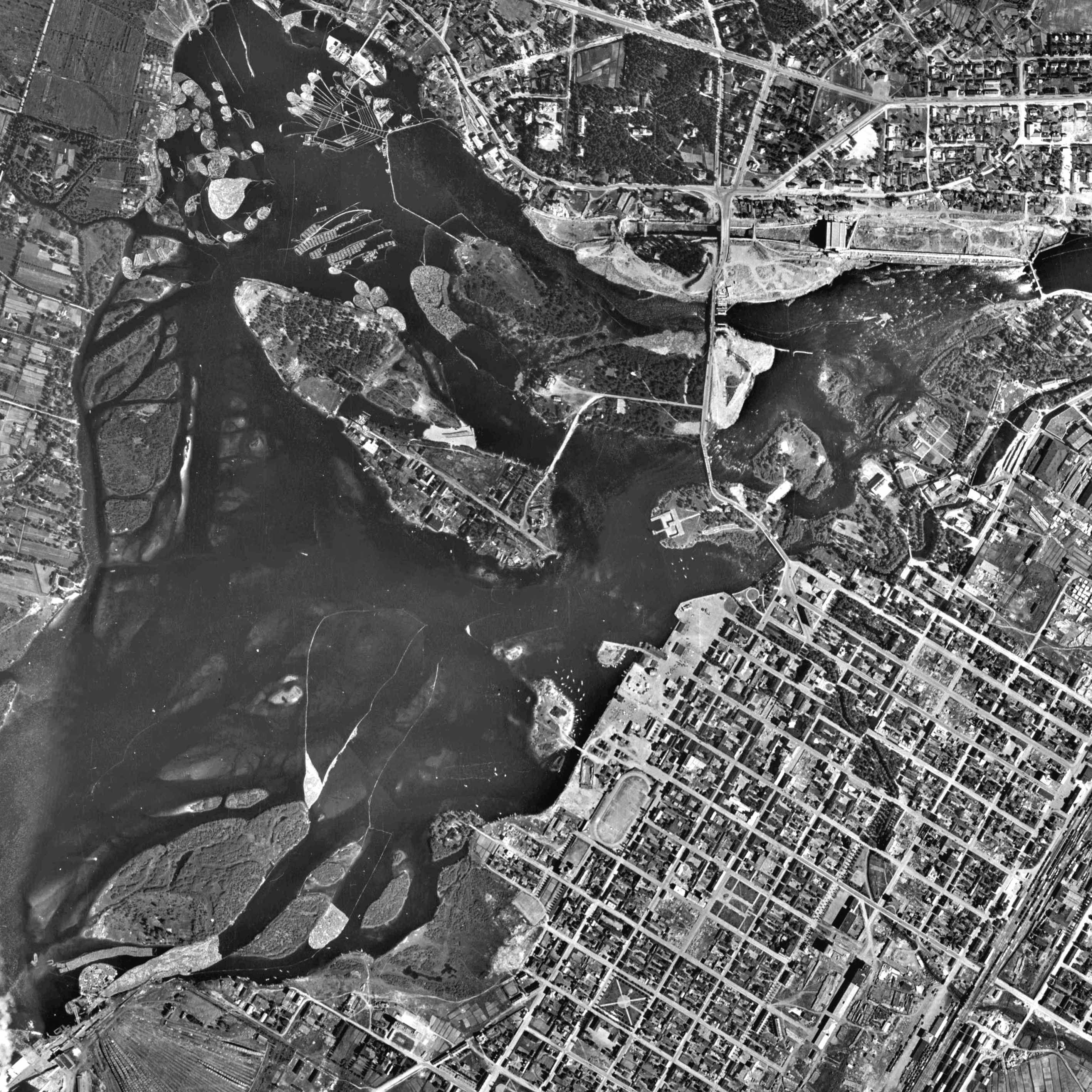 Oulu 1947 Suomi Kartta Arkkitehtuuri