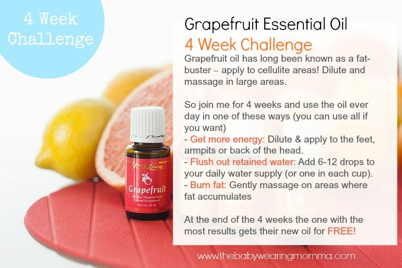 Organic Grapefruit Oil Easy 4 Week Weight Loss Challenge Healthy