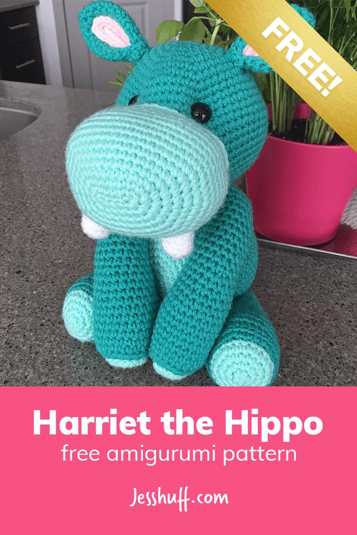 Harriet the Hippo #crochetanimals