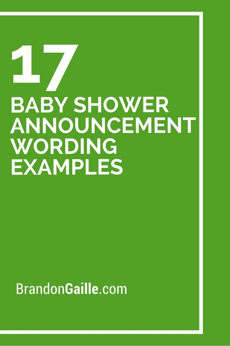 17 Baby Shower Announcement Wording Examples   Baby shower ...