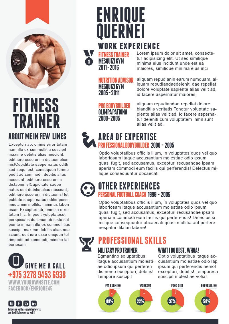 This Article Will Help You Write Fitness Trainer Resume, It Will Take You  Through The  Personal Training Resume