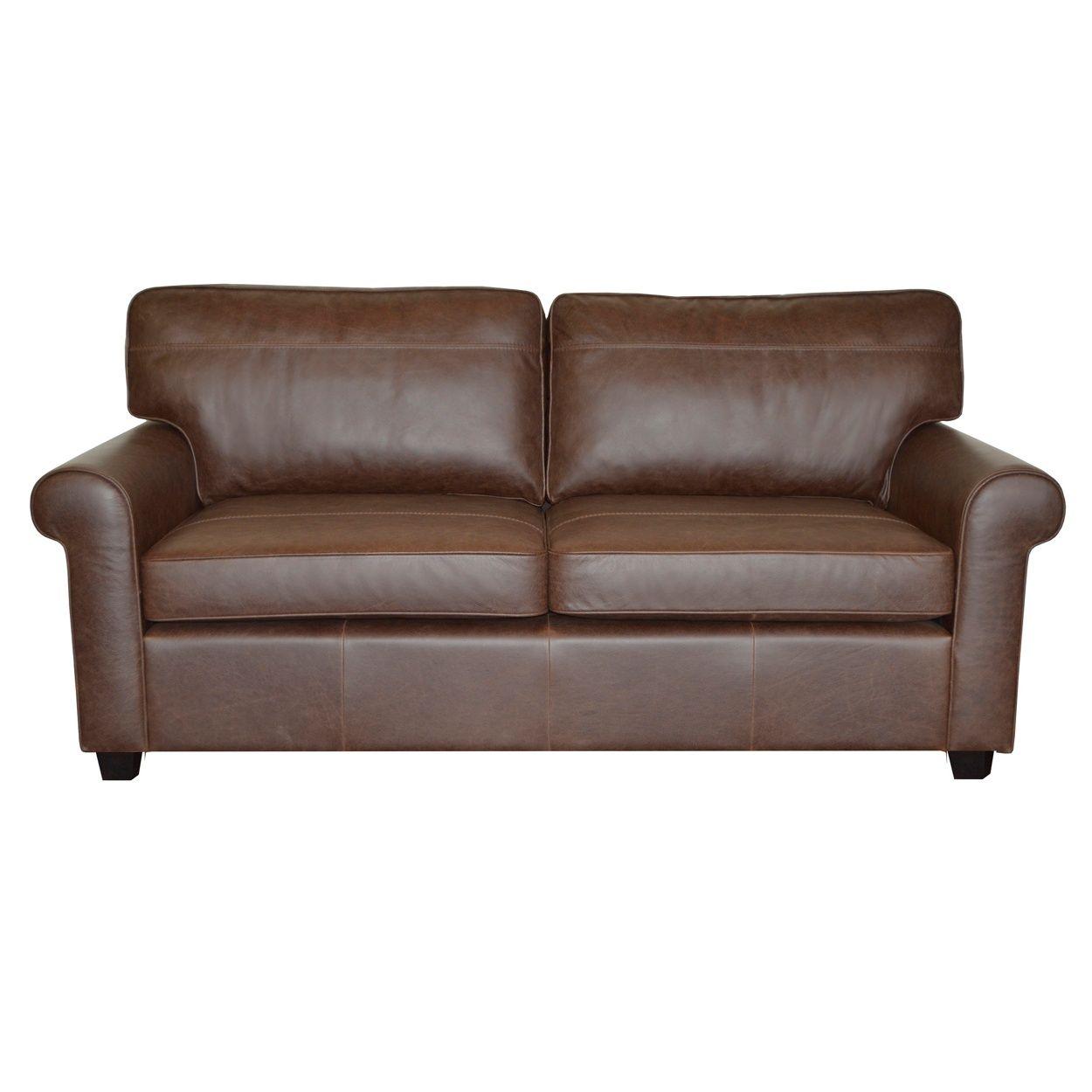 Debenhams Brown Oban Buffalo Leather Medium Sofa With