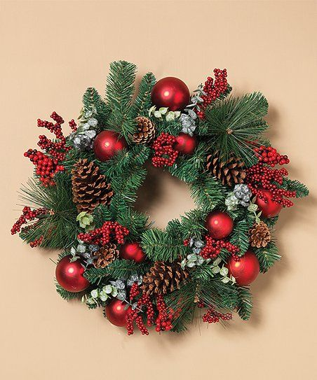 Photo of The Gerson Company Red Balls & Berries Wreath | Zulily