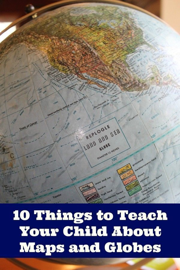 Teaching Your Child About Maps and Globes