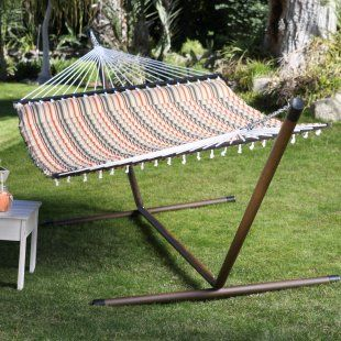 expedition stripe pillow top hammock with 15 ft  hammock stand island bay 13 ft  expedition stripe pillow top hammock with 15 ft      rh   pinterest