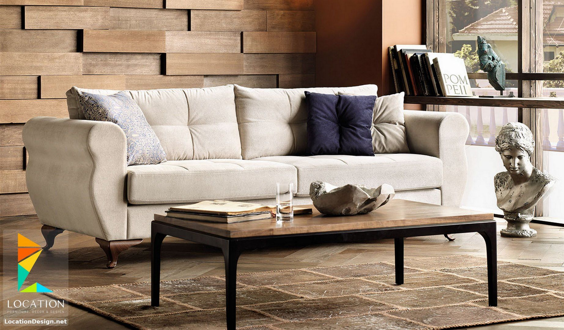 اشكال انتريهات مودرن من أحدث موديلات كنب الأنتريه التركي 2019 Furniture Sofa Design Wood Sofa Design
