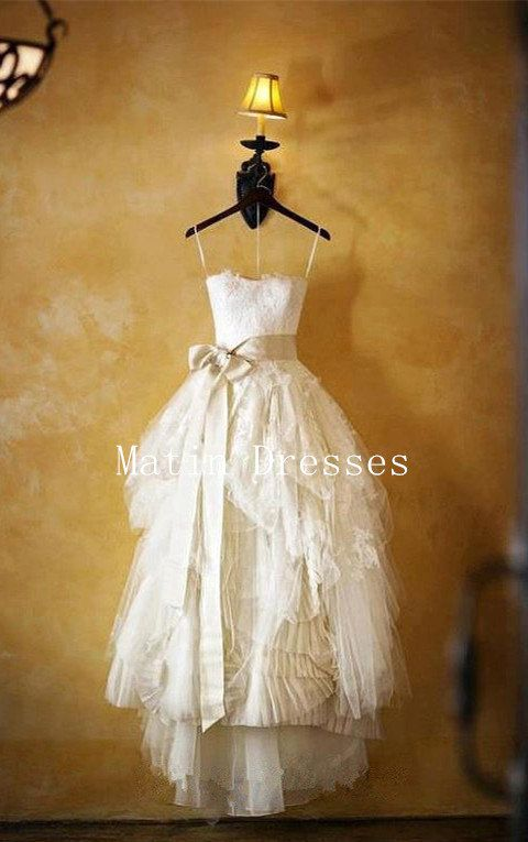 Handmade Ball Gown Lace Wedding Dresses Wedding by MatinDresses, $269.99