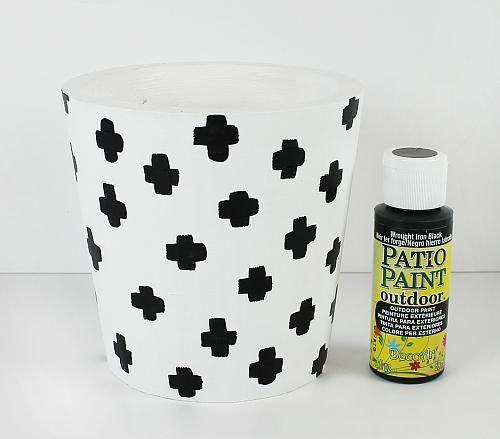 Create This Project With Patio Paint Outdoor™ U2014 Could Painting A Trendy  Flower Pot With