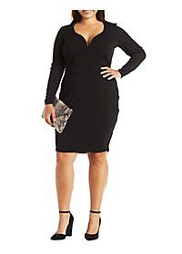Plus Size Sweetheart Neckline Bodycon Dress