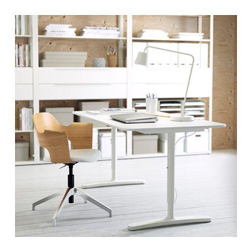 Ikea bürostuhl holz  BEKANT Schreibtisch, grau, schwarz | Schreibtische, Ikea und ...