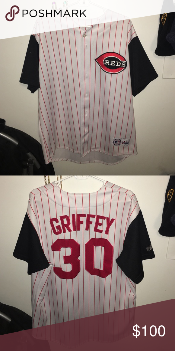 Ken Griffey Cubs jersey Worn a handful of times, still in great condition. Majestic Shirts