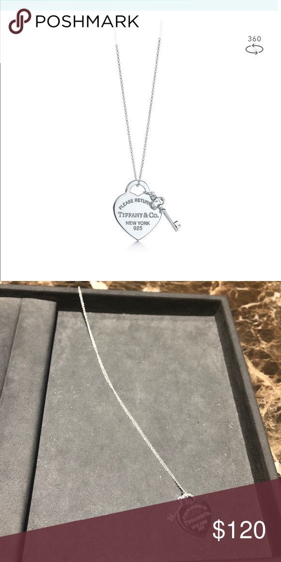 0f83310a8476 Tiffany   Co. necklace 100% Authentic Heart Tag w  key pendant necklace.  Just cleaned at the Tiffany s store. Comes with dustbag. No Box. Mint  condition!