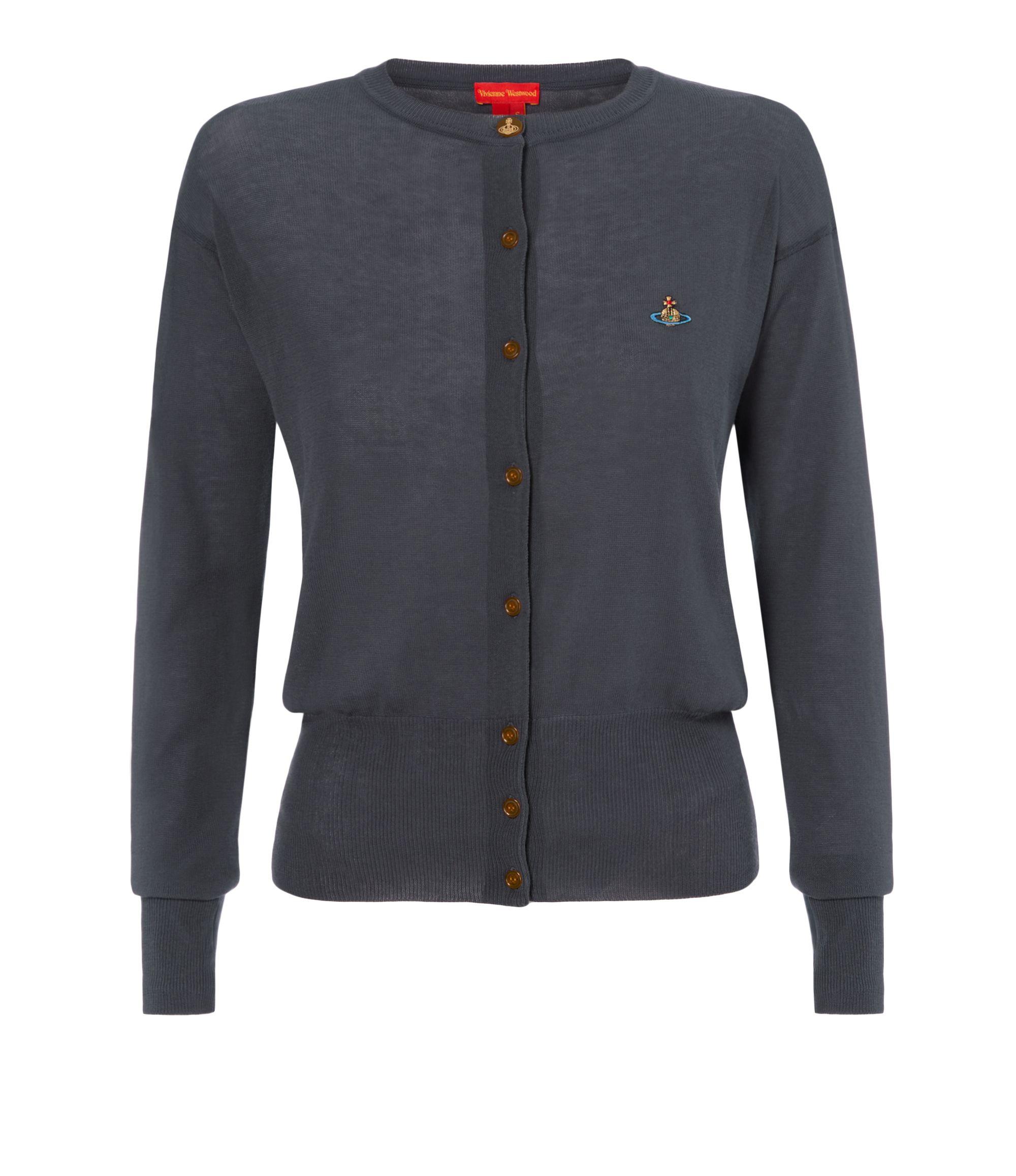 VIVIENNE WESTWOOD Grey Classic Cardigan. #viviennewestwood #cloth #