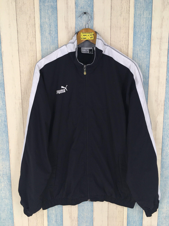 b93e9b209c552 Vintage PUMA WINDRUNNER Jacket Medium 90s Puma Streetwear Training ...