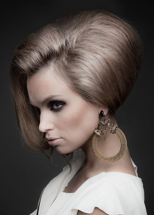 modern beehive hairdo 60s hairstyle trends bouffant