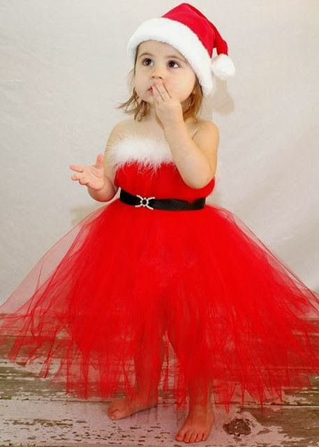 79f2ff57f4509 Cute Baby Girl Wearing Santa Dress | Kids baby pictures | Girls ...