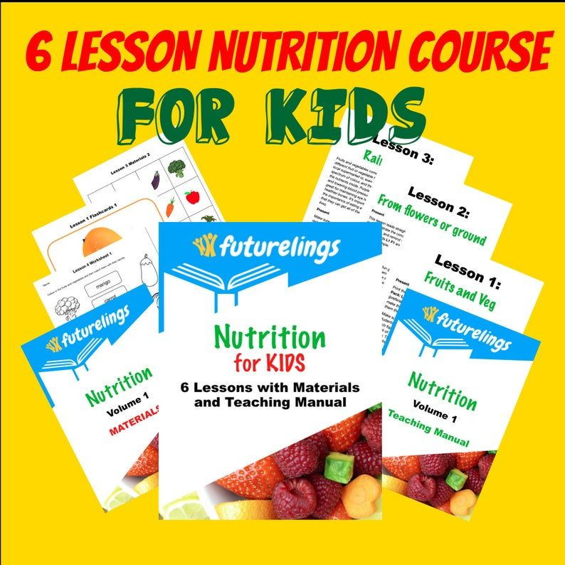 Healthy Food And Nutrition Lessons For Kids With Worksheets Etsy Nutrition Kids Nutrition Food