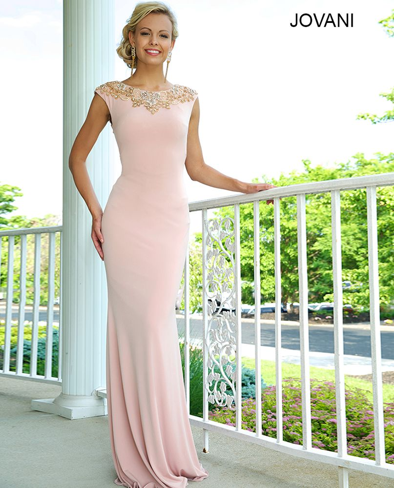 Jovani blush colored prom dresses