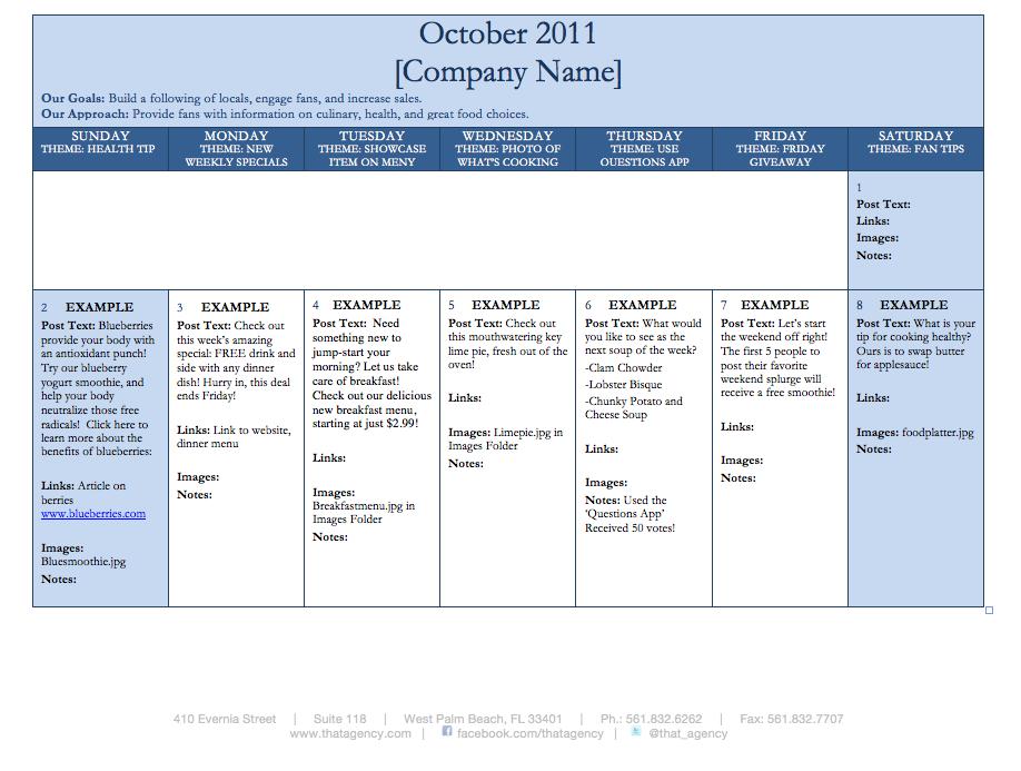 Social Media Content Calendar Template Editorial Calendar Template: An  Easy, Printable Way To Keep Your .