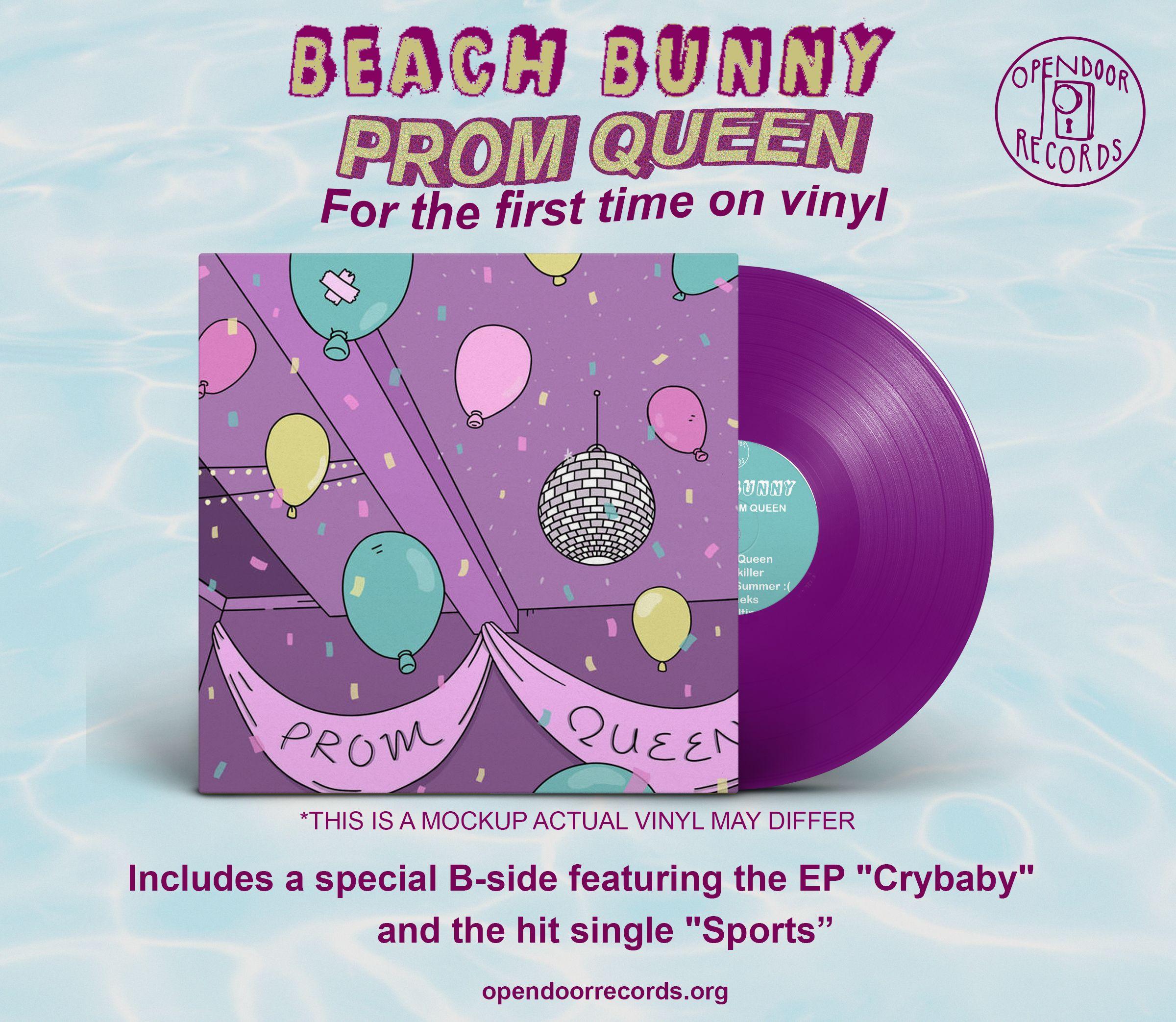 Beach Bunny Prom Queen Crybaby Sports 12 Open Door