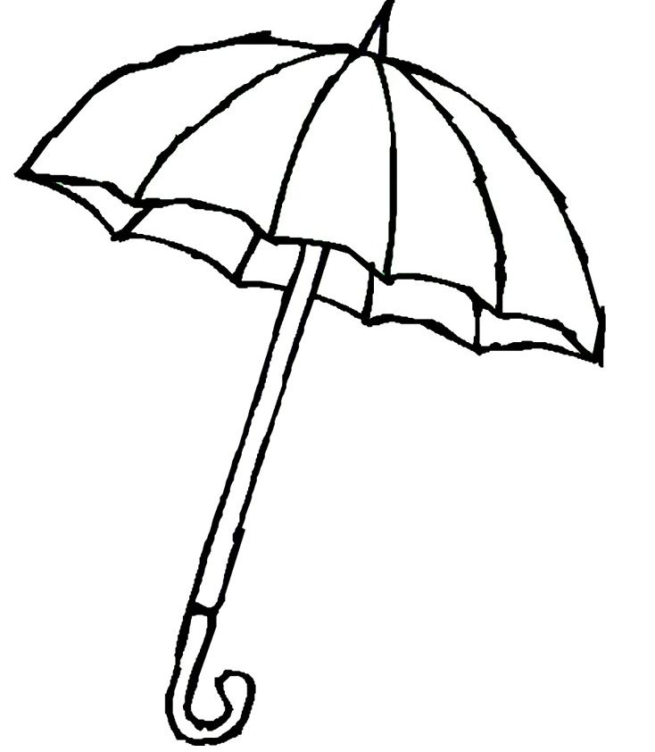 Umbrella Day Coloring Pages Umbrella With Raindrops Coloring