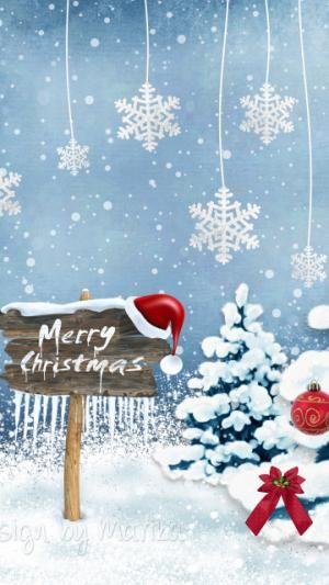 New Year Card Ornaments Christmas Trees Snowflakes Christmas Fete Telecharger Le F Christmas Lockscreen Wallpaper Iphone Christmas Christmas Paintings