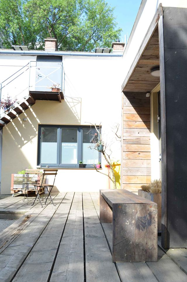 proportion.at_ Ein Blick in den hauseigenen Innenhof. So