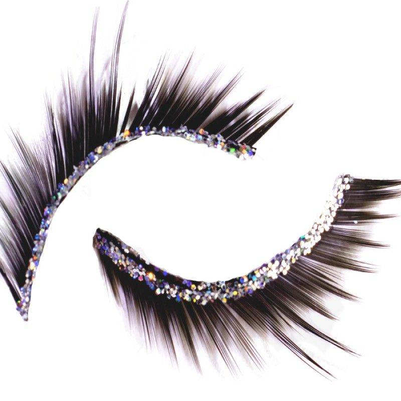Silver Glitter False Eyelashes Silver Glitter Fancy And Feathers