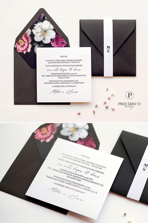 #blackenvelope #floralliner # invitationcard #weddingcard