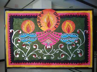 Art Craft Ideas And Bulletin Boards For Elementary Schools Diwali Celebration Board