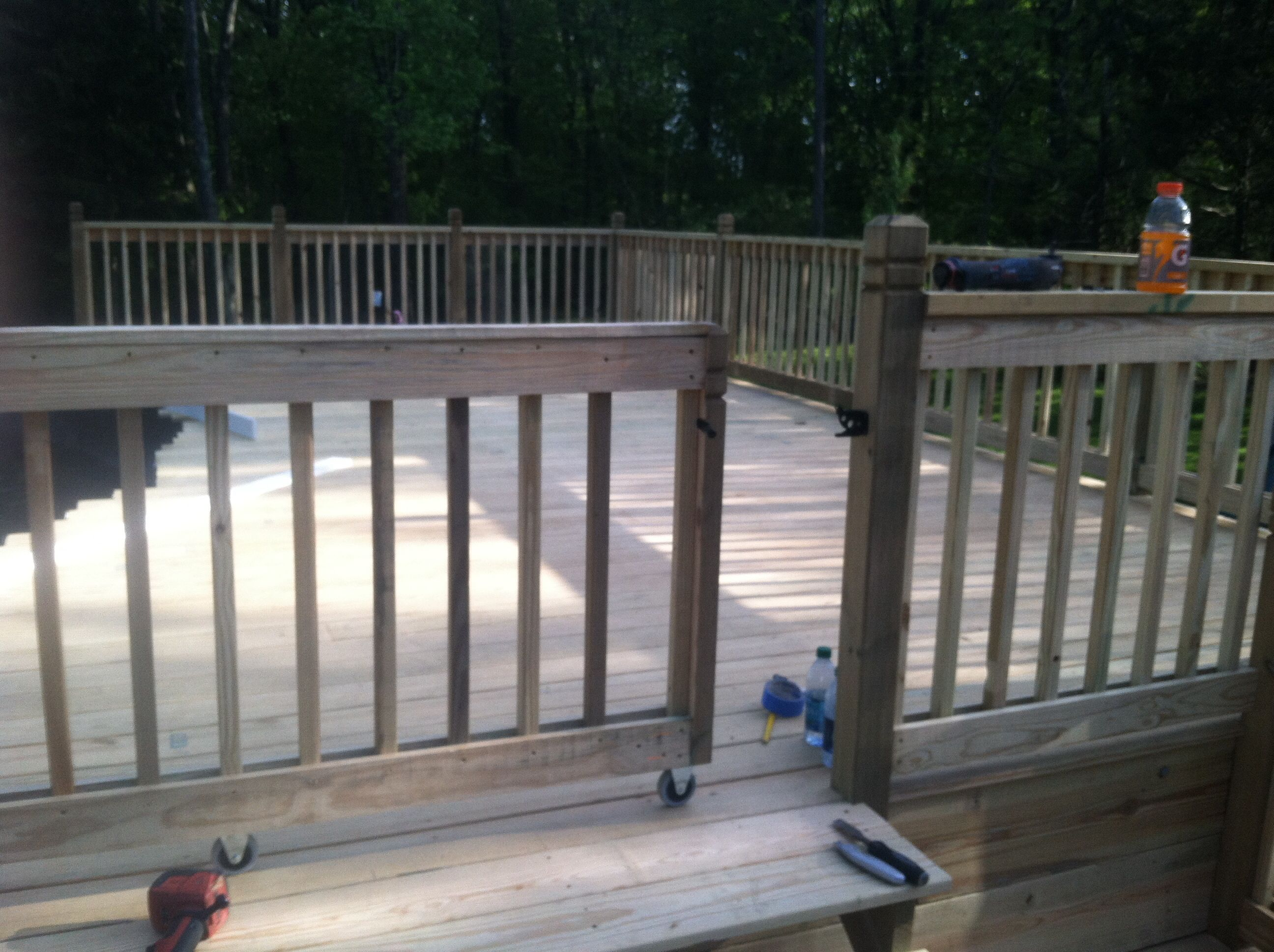 Sliding Gate Porch Gate Decks Porches Deck Gate