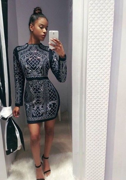 dress black dress white white dress black bebe sparkly dress balmain cute  outfits pumps sparkly heels short bodycon dress 87c927c43b58