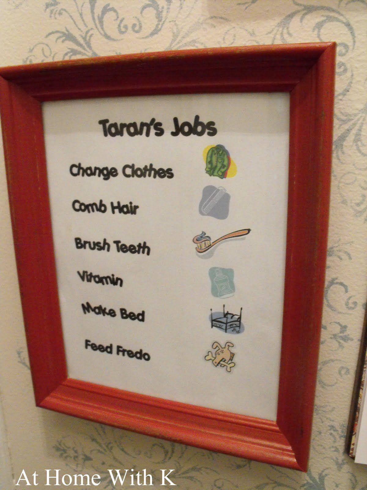 Job Chart ty for the fall? Kids job chart, Job chart