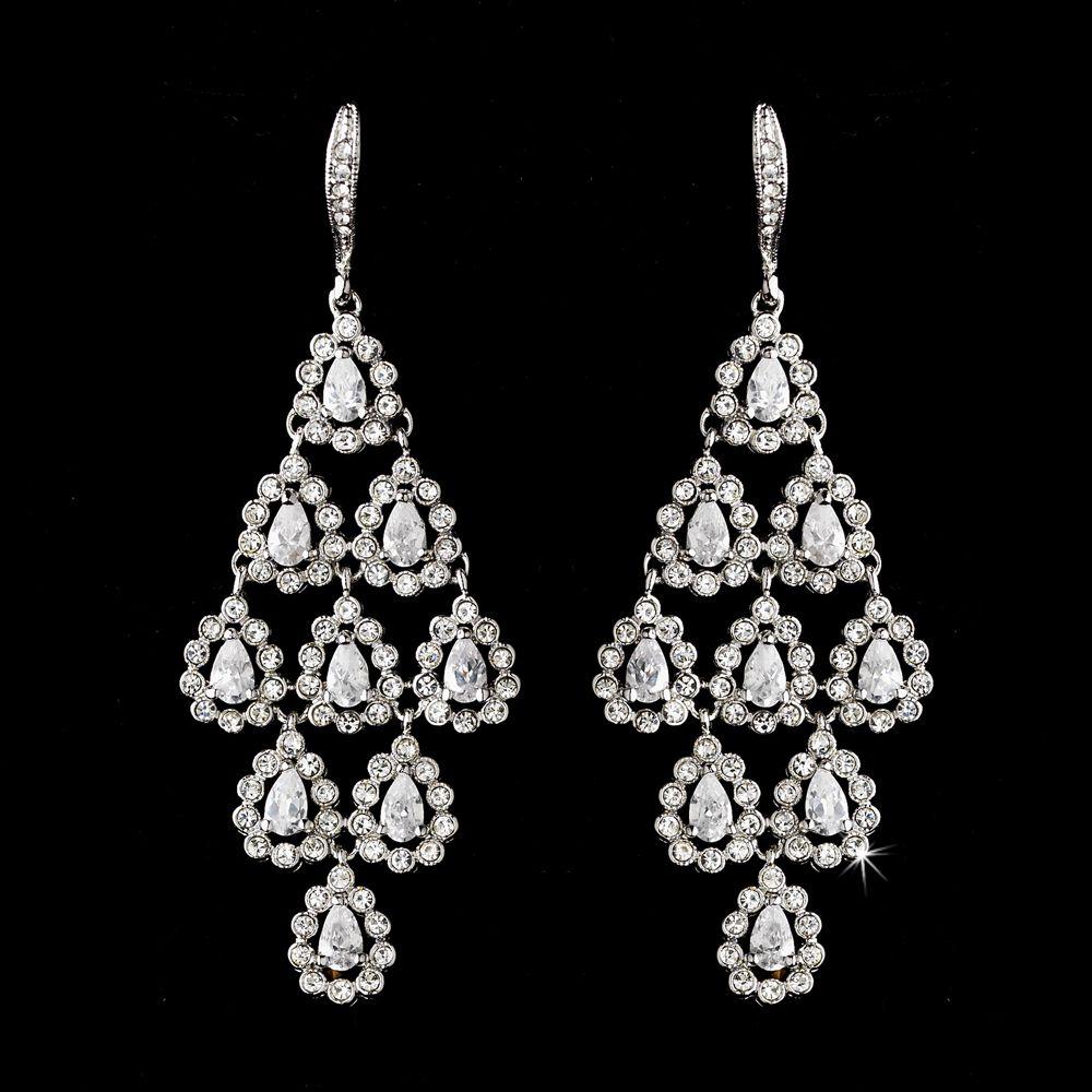Bold silver crystal chandelier bridal earrings bald hairstyles bold silver crystal chandelier bridal earrings arubaitofo Choice Image