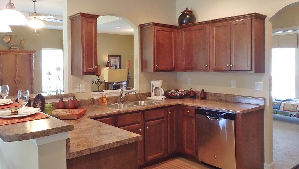 This Chloe Kitchen model home is found in the Colleton ...