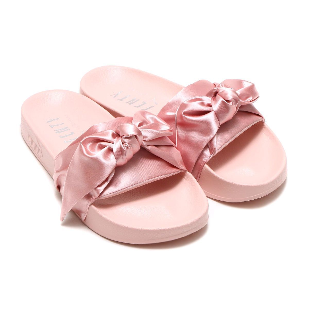 premium selection 2913d 4b77a Puma x Fenty Bow Slide - Silver Pink | Work outfits in 2019 ...