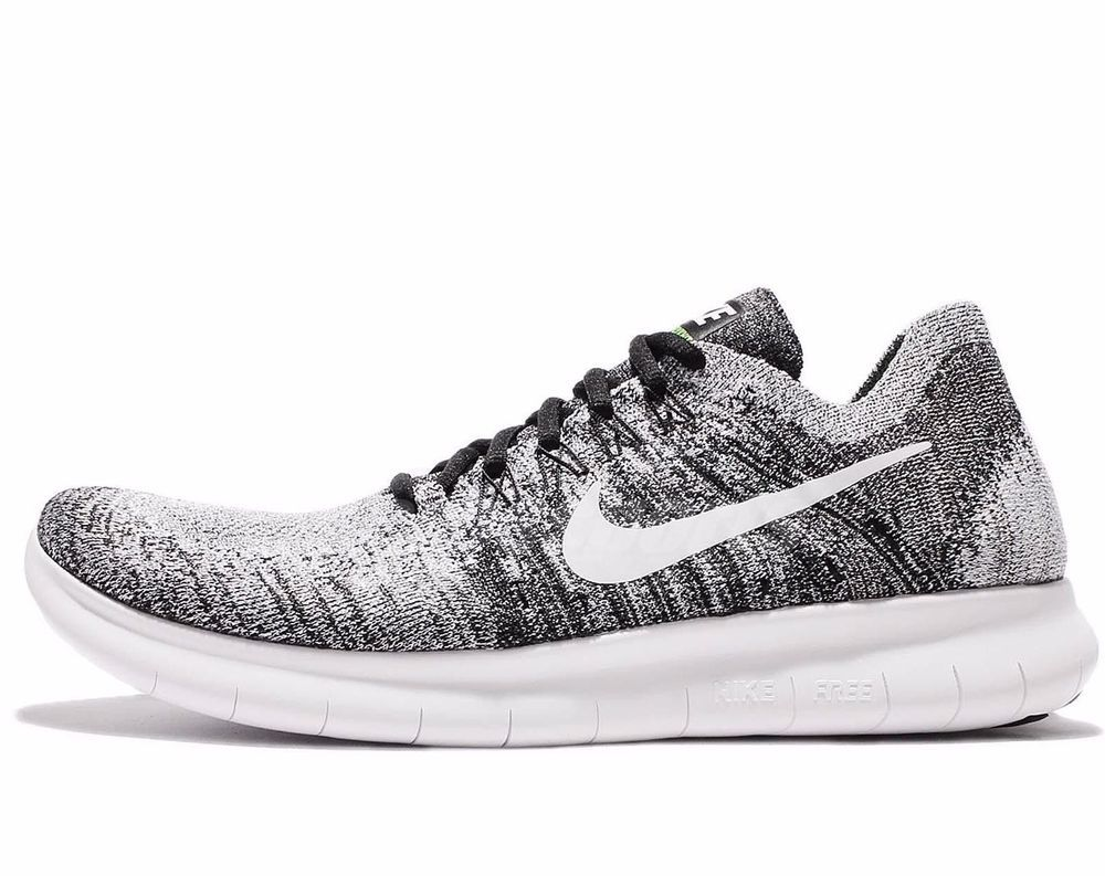 b9ad03a6550 Nike Free RN Flyknit 2017 Mens Running Shoes 7 Black White 880843 003 Oreo   Nike  RunningShoes