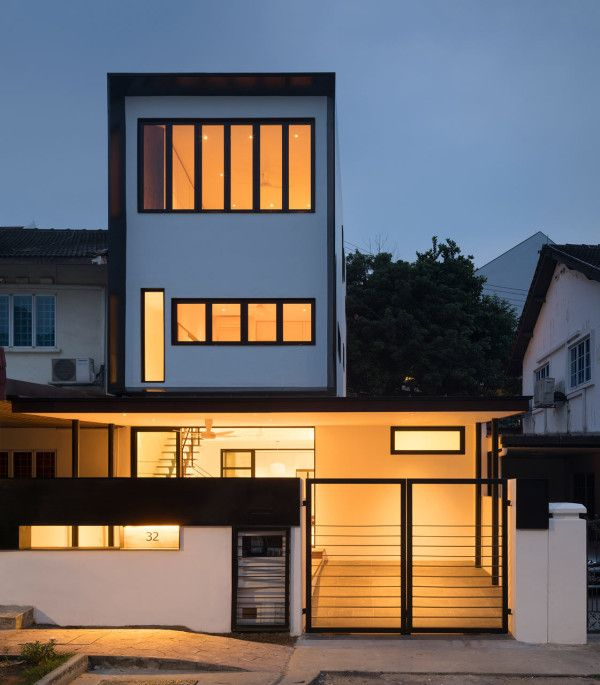 An old dark house is transformed in singapore atelier house and architecture