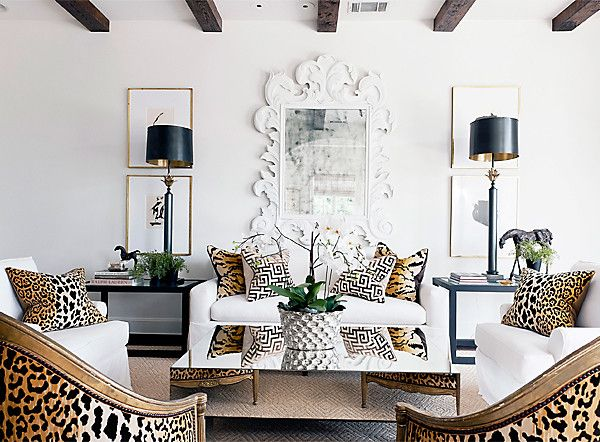 The 5 Hottest Ways To Use Leopard Print This Season Room Design Living Room Designs Home Interior Design