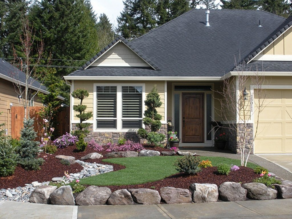 Landscaping front of house ranch landscaping ideas for for Ranch front yard landscaping ideas