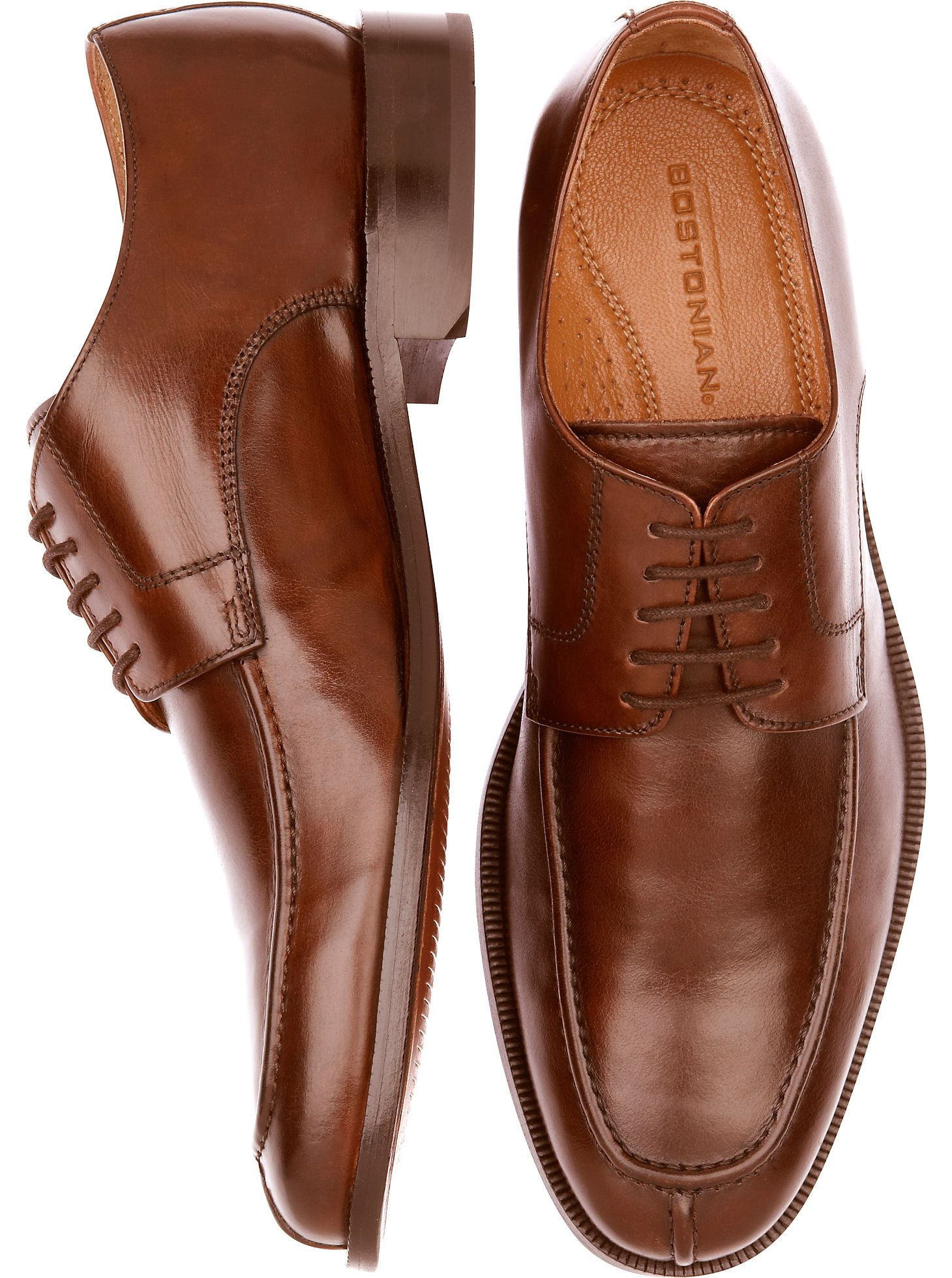Shoes - Bostonian Algonquin Brown Blucher Dress Shoes - Mens Wearhouse