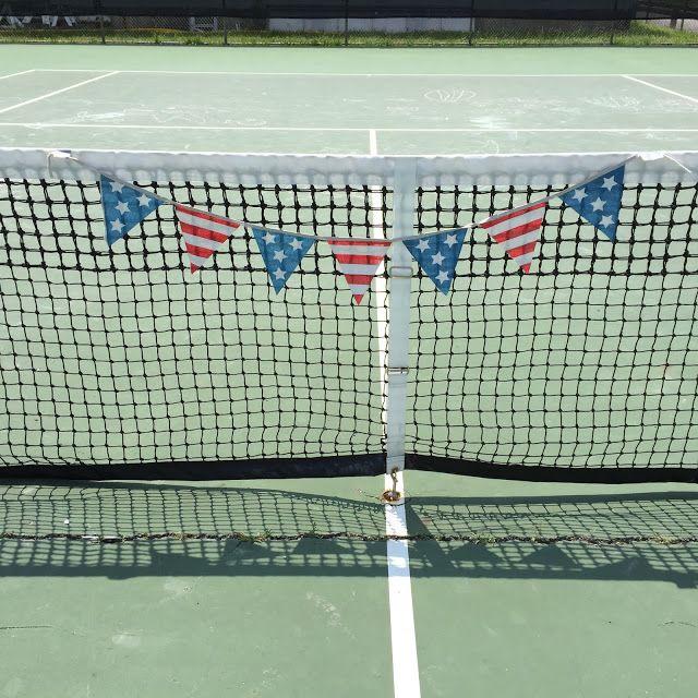 Patriotic tennis court!