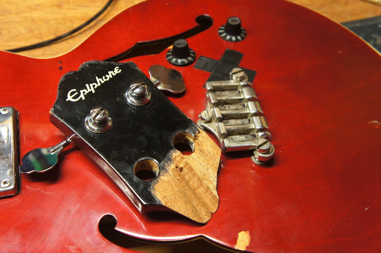 Headstock Break Repairs Manchester This Poor Beat Up Bass Has Seen Better Days Guitar Shop Acoustic Guitar Bass