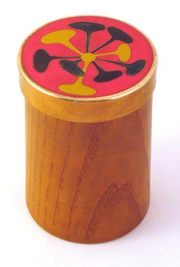 German enamel lidded box
